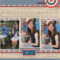 *4th of July 2014* - Scrapbook.com - Use Pebbles Americana collection to showcase your 4th of July photos.