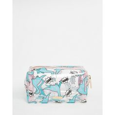 Skinny Dip Grrr Dinosaur Make Up Bag featuring polyvore, beauty products, beauty accessories, bags & cases, grrr, travel bags, cosmetic purse, toiletry bag, dop kit and wash bag