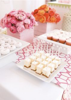 pink and yummy dessert bar