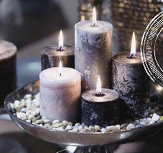 Altijd mooi een aantal kaarsen bij elkaar.