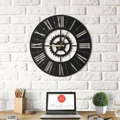 51 Meilleures Images Du Tableau Horloge Murale Design Artwall And Co