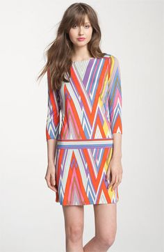 I want to get more into patterns     Juicy Couture 'Sirius' Print Silk Dress