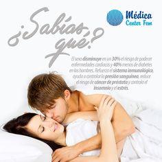 Además de placentero el sexo es excelente para disminuir la probabilidad de algunas enfermedades. #MedicaCenterFEM #Sexo #Sexualidad http://www.medicacenterfem.com/blog/tema/sexo/