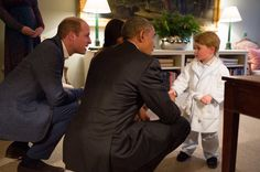 Prince George met the Obamas while wearing a bathrobe, because he can do whatever he wants. | Celebrities | Someecards  photo: Kensington Palace