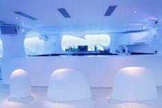 """""""Shroom"""" - class restaurant in Delhi City of """"The Busride"""" Studio 07 New Delhi, Delhi India, Great Buildings And Structures, Modern Buildings, Estilo High Tech, Delhi City, E Design, Interior Design, Dubai Skyscraper"""