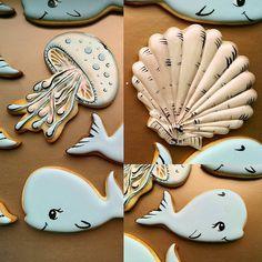 Печенье для сладкого стола в морском стиле