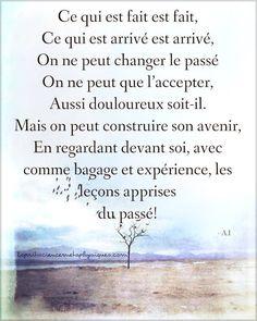 Ce qui est fait est fait, ce qui est arrivé est arrivé. #citation #citationdujour #proverbe #quote #frenchquote #pensées #phrases