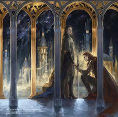 "pansen1802: ""The night before Nirnaeth Arnoediad, the battle of unnumbered tears. """