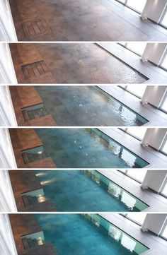 Walk on water At the push of a button, decking descends autometically and water fills in the void left behind – conceal, reveal, rise and repeat as desired, turning a cocktail into a pool party and back again. Depending on the nature of user needs, the mechanically-controlled platforms lower to become pool bottoms but also steps down into the resulting water. Aside from issues of cost (and one can only imagine how expensive such custom solutions must be – there are no list prices), the…