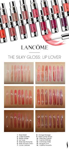 We swatched the shade range of Lancôme Lip Lover on various skintones. Which caught your eye? #Sephora #swatches #lipstick #mouthoff #silkygloss