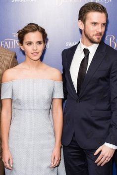 Emma Watson & Dan Stevens at the London premiere of *Beauty and the Beast*