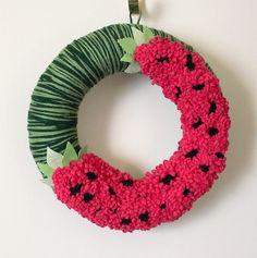 watermelon summer wreath- so cute!