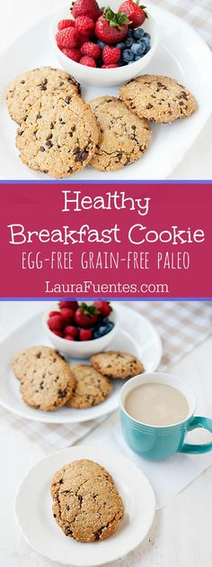 Healthy Breakfast Cookie: These are grain-free and easy to make packed with nutritious benefits you will make these all the time! Paleo Breakfast Cookies, Paleo Dessert, Dessert Recipes, Breakfast Recipes, Paleo Cookies, Breakfast Bites, Breakfast Healthy, Health Breakfast, Yummy Cookies
