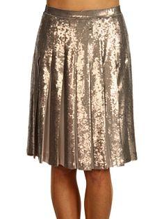 6pm || BCBGMAXAZRIA Edna Sequin Skirt || #bcbgmaxazria #gold #metallic