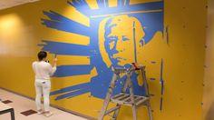 Tape Art Mural - Positive & Negative Space