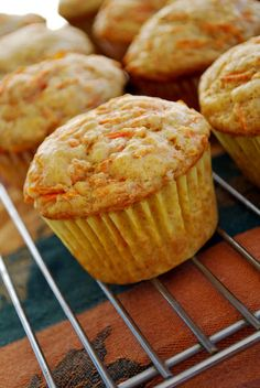 These moist and dense muffins have 2 C of shredded carrots in them which makes them one of the best recipes