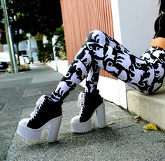 Limited Edition A Real Cool Cat HWMF Leggings. Visit the website to see the current collection.