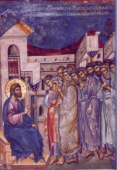 The Fifth Sunday Of Great Lent, on March 29 Behold, we are going up to Jerusalem… Byzantine Icons, Byzantine Art, Religious Icons, Religious Art, Art Icon, Orthodox Icons, Russian Art, Sacred Art, Illuminated Manuscript