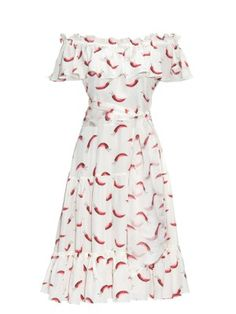 Santo Domingo chilli-print silk dress   Isolda   MATCHESFASHION.COM US