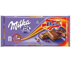 Milka die ook reclame maakt voor daim