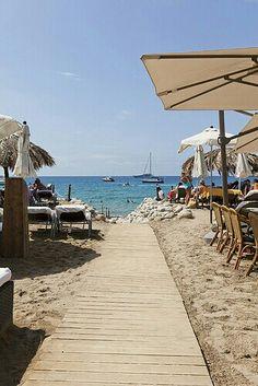 Yemanja, beachside Ibiza restaurant with fantastic paella. Next to Blue Marlin