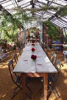 garden party in a green house