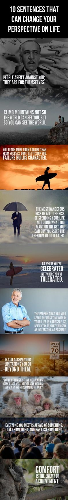 """10 Sentences That Can Change Your Perspective on Life. As much as these are cheesy """"inspirational quotes"""" they are certainly true and get you to think about things a bit differently. The Words, Cool Words, Quotable Quotes, Motivational Quotes, Inspirational Quotes, Quotes Positive, Positive Affirmations, Good Quotes, Quotes To Live By"""