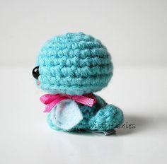 Venta  Baby Blue Bird  Mini Kawaii Amigurumi