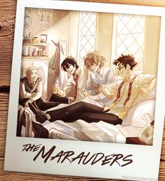 the marauders; from left: peter pettigrew, sirius black, remus lupin, james potter; by viria James Potter, Harry Potter Fan Art, Harry Potter Anime, Harry Potter World, Blaise Harry Potter, Mundo Harry Potter, Harry Potter Universal, Harry Potter Memes, Potter Facts
