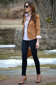 Like that blazer!  Camel color is good. Have several pairs of skinny pants in black and navy that it would work with. Also love the spectator pumps, but they are maybe a bit too high.  Stitch fix inspiration and trends 2016. Stitch fix fall 2016. Stitch fix winter 2016.