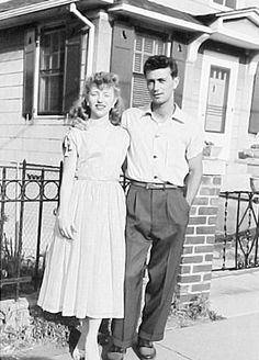 Frank Frazetta and his muse Ellie Frazetta outside their house.