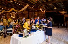 Wedding guests enjoying the reception food  - Raleigh Wedding Venues