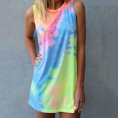 Best Rainbow Tie Dye Dress Products on Wanelo