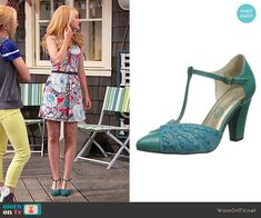 Liv's teal t-strap shoes on Liv and Maddie.  Outfit Details: https://wornontv.net/64641/ #LivandMaddie