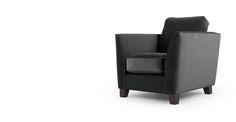 Wolseley Armchair, Smoke Grey Velvet | made.com