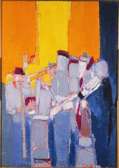 """Painting by Nicolas de Stael """"Musicians"""" Abstract Landscape Painting, Abstract Art, Figure Painting, Painting & Drawing, Modern Art, Contemporary Art, Tachisme, Art Graphique, Art Plastique"""