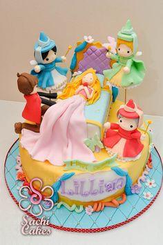 Sleeping Beauty 1st Birthday Cake | Sachi Cakes: July 2012