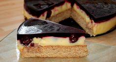 Pudingos meggytorta (diabetikus) recept | APRÓSÉF.HU - receptek képekkel Diabetic Recipes, Pie Recipes, Healthy Recipes, Healthy Food, Health Eating, Oreo, Tart, Sandwiches, Sweet Treats