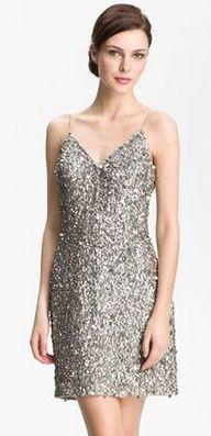 Weddings   Go Metallic! - Silver sequin shine