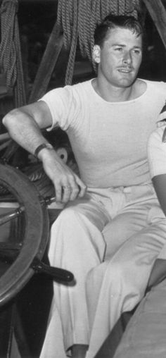 Errol Flynn. Pretty much the only guy ever to pull off the thin mustache.