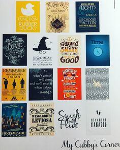 Harry Wizard Quote Stickers Set Erin Condren by LittlePixiePaperie