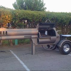 Custom BBQ smoker. Take this bitch to Burro Canyon