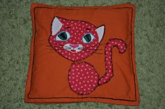 funny cat handmade pillow case