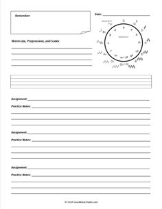 Assignment sheet - use for my kids, but alter to fit several kids on one sheet (maybe 2 weeks per sheet?)