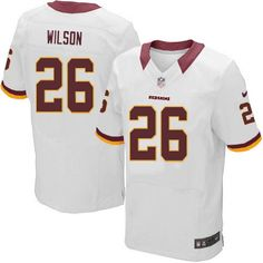 Men Nike Washington Redskins #26 Josh Wilson Elite White NFL Jersey Sale