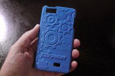Une coque en plastique bleu pour un Fairphone 3d Hubs, Nintendo Wii Controller, 3d Printing, Phone Cases, Printed, Plastic, Baby Born, Blue, Impression 3d