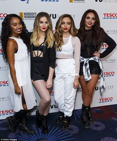 Hours before: Leigh-Anne and Jade were with fellow Little Mixers Jesy Nelson and Perrie Ed...