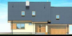 Proiect casa CSD 013 Malaga, Garage Doors, Multi Story Building, Exterior, Urban, Outdoor Decor, Modern, Case, Design