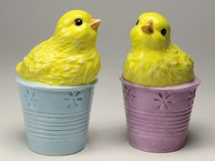 Little Chicks Porcelain Salt and Pepper Shakers, Set of 4 - Tableware - Cosmos