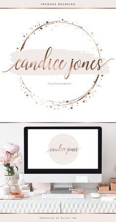 Circle Logo Design, Circle Logos, Branding Kit, Branding Design, Makeup Artist Logo, Star Logo, Beauty Logo, Photography Logos, Beautiful Roses